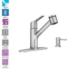 MOEN Sombra Single-Handle Pull-Out Sprayer Kitchen Faucet with Power Clean