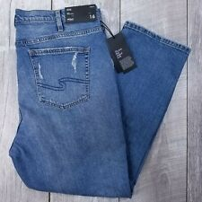 Silver Jeans Frisco Womens Plus 16 38x28 Distressed High Rise Mom Straight J48