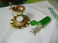 New Brass Resin Burner NO Charcoal Needed  1 Ounce Benzoin of Sumatra Altar