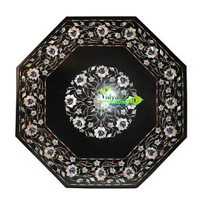 """23"""" Marble Center Table Top Mother Of Pearls Mosaic Home Decor And Garden Decor"""
