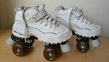 Skechers Roller Skates 4 Wheeler for Girls Women Lights White/Blue Size 4 EUC
