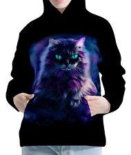 Cheshire Cat Womens Hoodie Hooded Pullover Sweatshirt wb114 aco40915