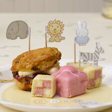BABY MIFFY CUPCAKE & CANAPE FLAGS [20] - Baby Shower Party Supplies Neutral