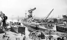 ROYAL NAVY BATTLESHIP HMS BARHAM UNDER CONSTRUCTION ON THE CLYDE IN 1915