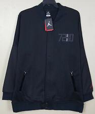 1c2f8978074d72 Mens 2xl Nike Air Jordan XI Varsity Jacket Black Gym Red Full Front Zip  777497