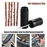 Puncture Repair Kit for Tubeless Tire Bicycle Tire Rubber Mending Strip Adhesion
