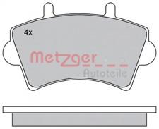 Bremsbelagsatz, Scheibenbremse für Bremsanlage Vorderachse METZGER 1170175