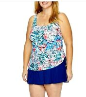 Azul by MAXINE OF HOLLYWOOD women's  plus size one piece Slimming Swimsuit dress