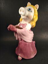 """Vintage """"Miss Piggy"""" Ceramic Planter Sigma Tastesetter Jim Henson"""