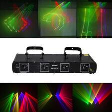 4 Lens 560mW 4Colors RGYB DJ Laser Light DMX 7CH Disco Stage Party Lighting Show