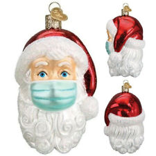 Santa mit Maske Christbaumschmuck Weihnachtskugeln Figuren Winterdeko