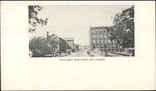Leominster MA Wachusett Shirt Shop & Laundry c1905 Postcard