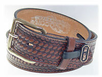 Nocona Western Leather MoneyBelt 1-1-2 inch/DK Brown Size 27-28