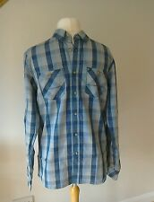 BNWT Mens Bench Blue Check Shirt size M