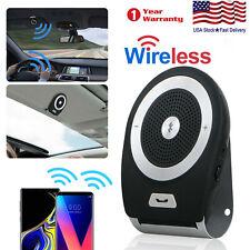 Wireless Hands Free Speakerphone Speaker Car Kit Multipoint Visor Clip Receiver