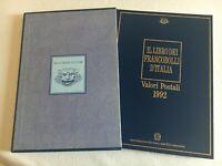1992 Libro dei francobolli d'Italia Buca delle lettere completo di francobolli