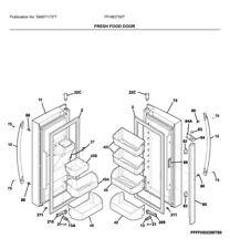 Frigidaire OEM 242036302 Flipper Mullion w/Heater