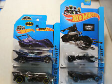 2014/15 Hot Wheels HW City Batmobile BAT-POD LOT 4 BLUE YELLOW MOTORCYCLE SHORT