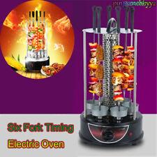 Electric Vertical BBQ Home Smokeless Timing Autorotation Kebab Grill Machine Hot