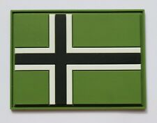 Vinnland flag cross PVC patch with contact tape hook / loop