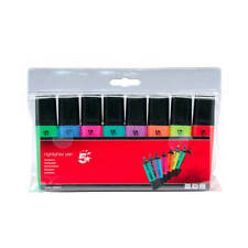 5 Star Office Highlighters Chisel Tip 1-5mm Line Assorted Wallet 8