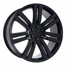 "(4) 22"" Gloss Black Escalade GMC Sierra Yukon Wheels Rims Marcellino 2000-2017"