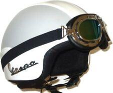 Casco Jet Helmet Capacete Omologato In Ecopelle BIANCO GRIGIO VESPA TAGLIA M