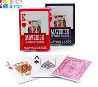 2 DECKS MAVERICK PLAYING CARDS 1 BLUE AND 1 RED HOYLE POKER DECK JUMBO INDEX