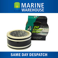 Black Triple Stripe Vinyl Decorative Boat Tape - Marine 44mm X 10M 401967TB