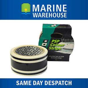 Black Triple Stripe Vinyl Decorative Boat Tape - Marine 44mm X 10M 401967TB