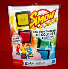 Hasbro SIMON FLASH Game 4 Modes Light Sound Changing Colors Complete in Pkg 2011