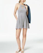 Roxy Juniors' Indian Plum Striped Wide-Leg Romper MSRP $50 Size S # 10B 691 Blm