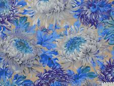 18,93€/m² => 25cmx112cm: SHAGGY Neutral / Große Blumen - Kaffe Fassett