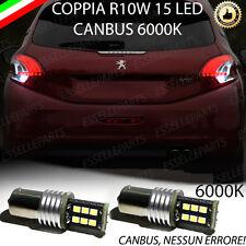 COPPIA LUCI RETROMARCIA 15 LED R10W CANBUS PEUGEOT 208 100 % NO ERROR