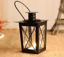 Classic Metal Candle Holder Home Garden Hanging Retro Lantern Glass Fresh Decor