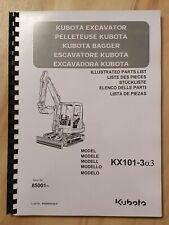 Ersatzteilliste / Stückliste für Kubota KX101-3a3