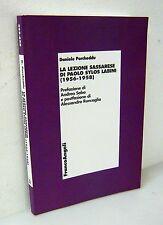 Porcheddu,LA LEZIONE SASSARESE DI PAOLO SYLOS LABINI,2008 FrancoAngeli[economia