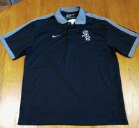 Nike Golf Dri-Fit Chicago White Sox Miller Lite Polo Men's Size Large Black Gray
