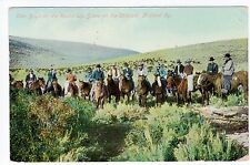 """1913 Colorado Cowboys Postcard - """"Cow Boys on the Round Up"""" - Posted"""