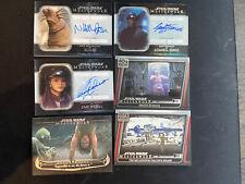 2020 Star Wars Masterwork Autograph and insert card lot