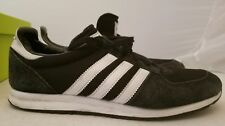 men's Adidas US 8 Black and White Stripes Shoes Sneakers almost new