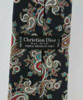 Christian Dior Paisley Tie 100% Silk