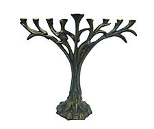 "Hanukka Menorah Hanukkia By David Klass Tree of Life Design 13.75"" Wx 12"" T *"