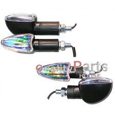 4x Spear Black Bulb Indicators Front & Rear Motorbike Motorcycle (Iridium Lens)