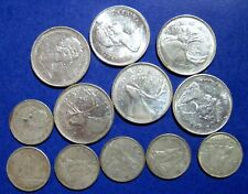 SILVER SCRAP 1968  ELIZABETH II Canada 25 & 10 CENT Silver  COINS LOT OF 12
