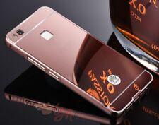 Funda efecto espejo para Huawei P9 Lite marco de Aluminio y PC Oro Rosa