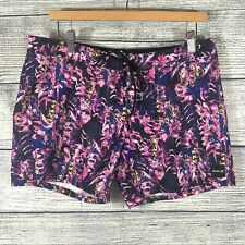 Hurley patterned tie front shorts size 11