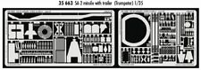 Eduard 1/35 SA-2 missile with trailer For Trumpeter Kits # 35663