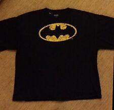 DC Comics Batman Cracked Logo T-shirt Pre-owned XXL **FAST SHIPPING**