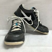 NIKE SKEET MEN'S BLACK SUEDE LEATHER SKATEBOARD SNEAKERS 324957-013 SIZE 13  FB